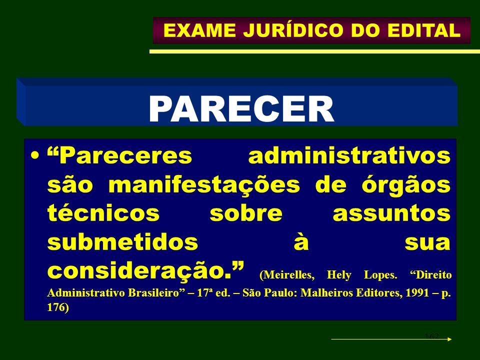 EXAME JURÍDICO DO EDITAL