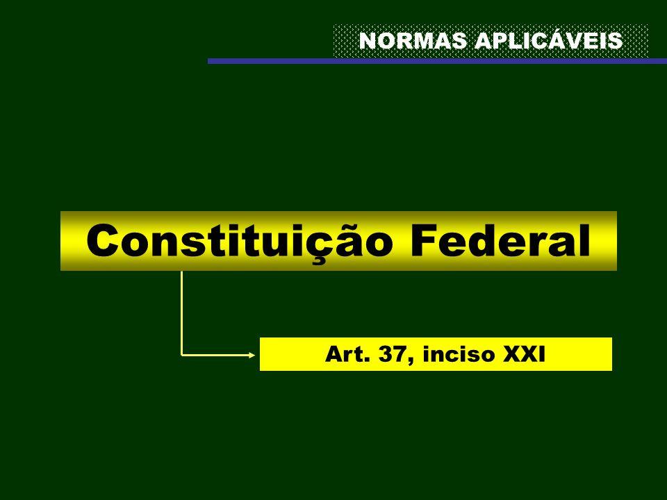 NORMAS APLICÁVEIS Constituição Federal Art. 37, inciso XXI