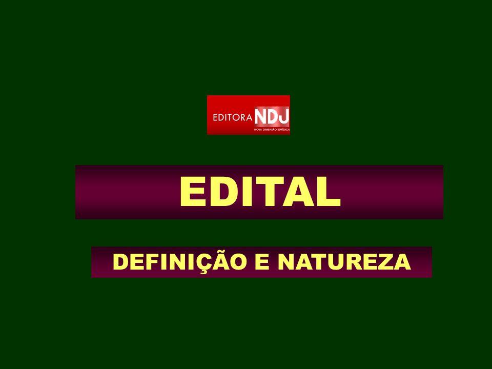 EDITAL DEFINIÇÃO E NATUREZA