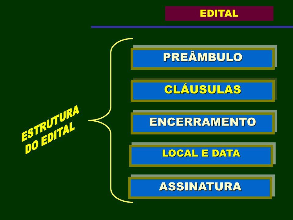 PREÂMBULO CLÁUSULAS ENCERRAMENTO ASSINATURA