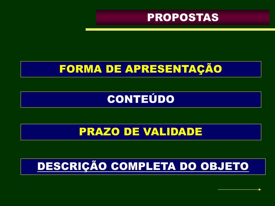 DESCRIÇÃO COMPLETA DO OBJETO