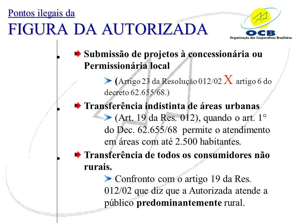 Pontos ilegais da FIGURA DA AUTORIZADA