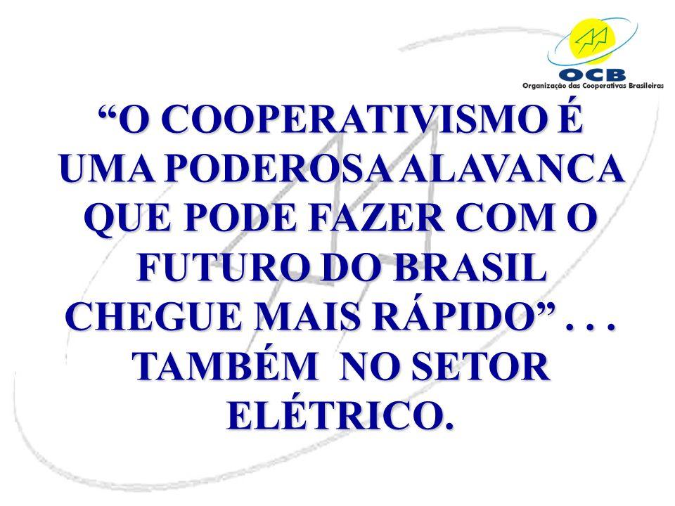 O COOPERATIVISMO É UMA PODEROSA ALAVANCA QUE PODE FAZER COM O FUTURO DO BRASIL CHEGUE MAIS RÁPIDO .