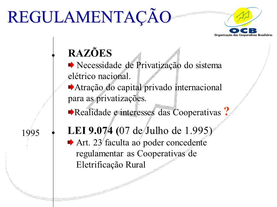 REGULAMENTAÇÃO RAZÕES LEI 9.074 (07 de Julho de 1.995)