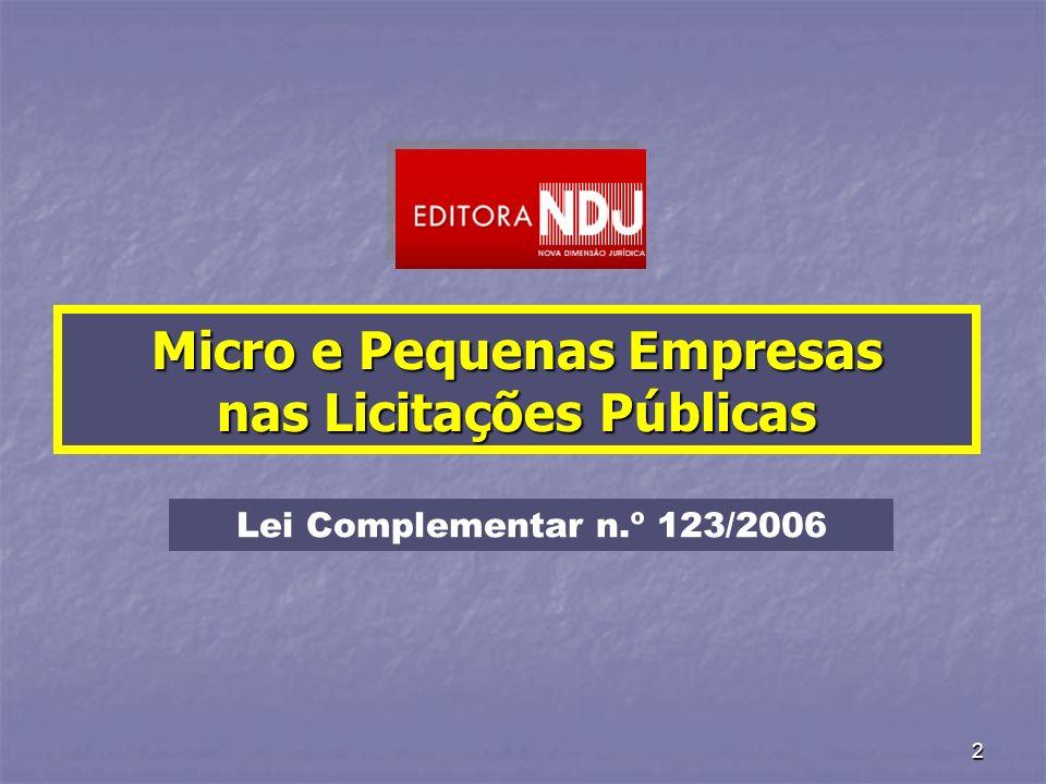 Micro e Pequenas Empresas nas Licitações Públicas