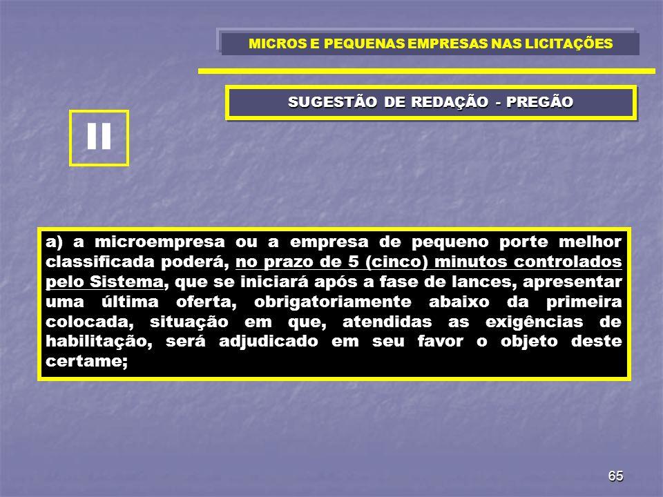 SUGESTÃO DE REDAÇÃO - PREGÃO