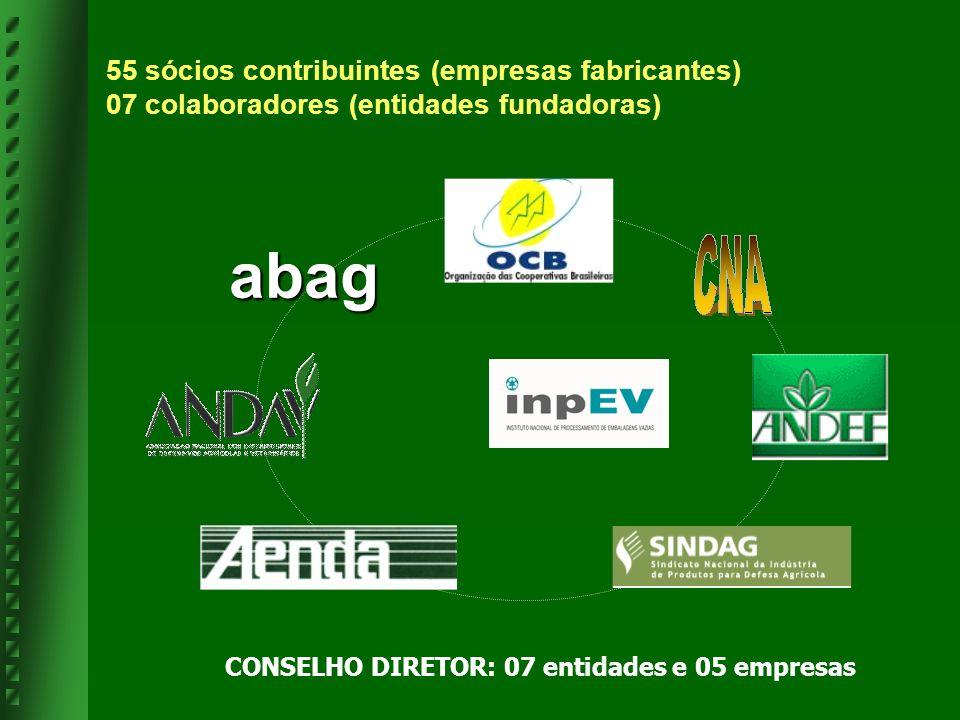 CONSELHO DIRETOR: 07 entidades e 05 empresas