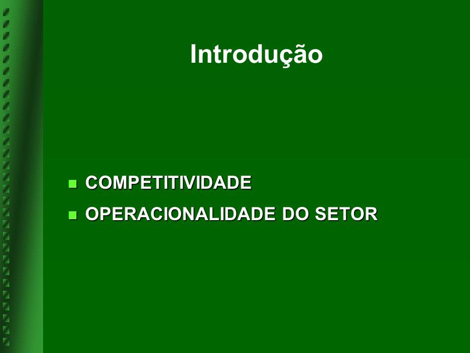Introdução COMPETITIVIDADE OPERACIONALIDADE DO SETOR