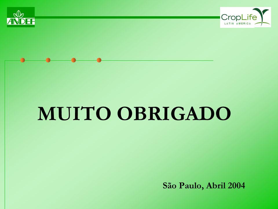 MUITO OBRIGADO São Paulo, Abril 2004