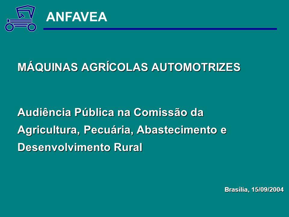 ANFAVEA MÁQUINAS AGRÍCOLAS AUTOMOTRIZES