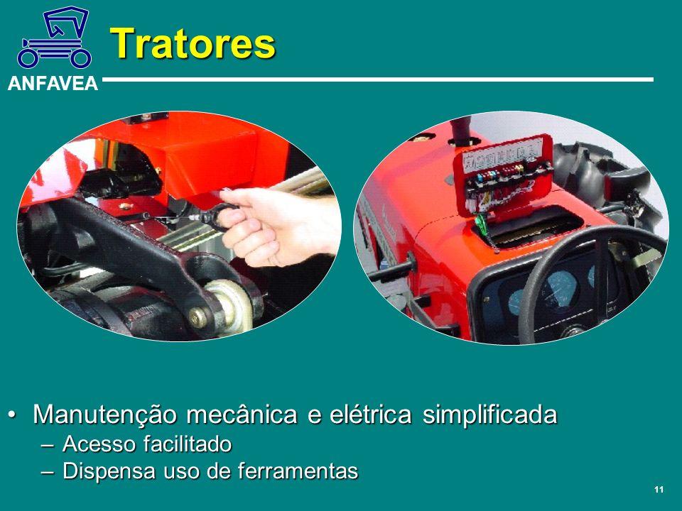 Tratores Manutenção mecânica e elétrica simplificada Acesso facilitado