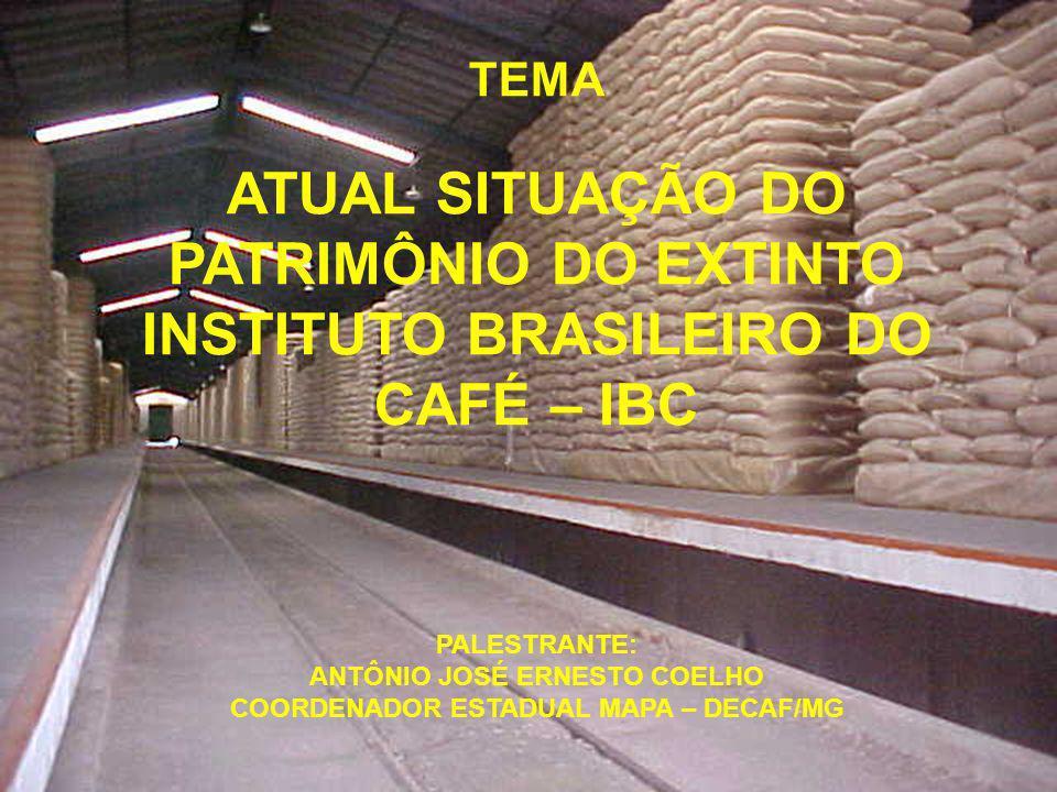 ANTÔNIO JOSÉ ERNESTO COELHO COORDENADOR ESTADUAL MAPA – DECAF/MG