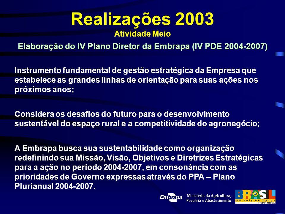 Elaboração do IV Plano Diretor da Embrapa (IV PDE 2004-2007)