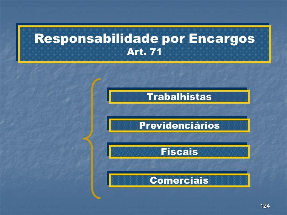 Responsabilidade por Encargos