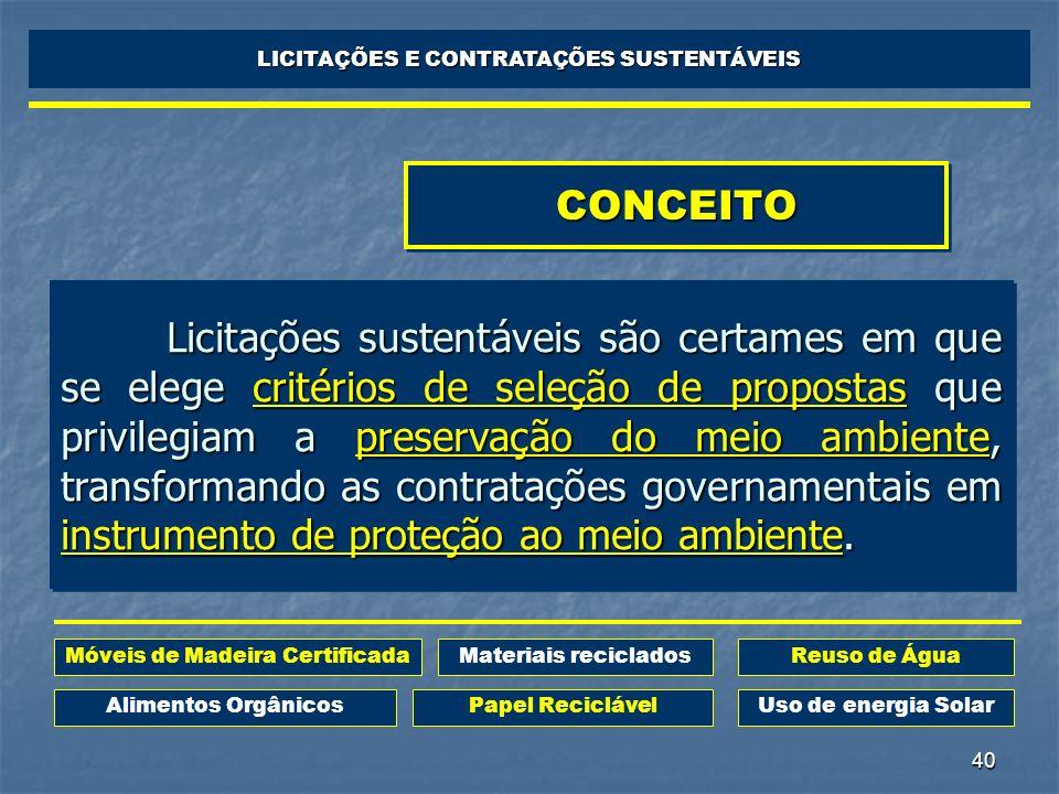 LICITAÇÕES E CONTRATAÇÕES SUSTENTÁVEIS