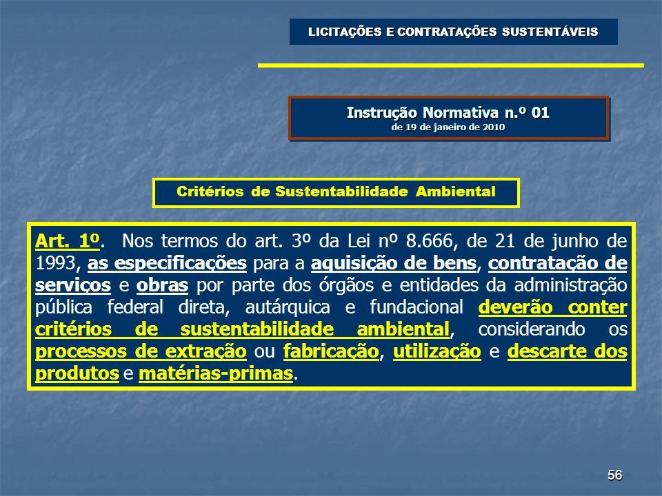 Instrução Normativa n.º 01 de 19 de janeiro de 2010