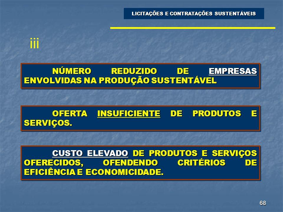 NÚMERO REDUZIDO DE EMPRESAS ENVOLVIDAS NA PRODUÇÃO SUSTENTÁVEL