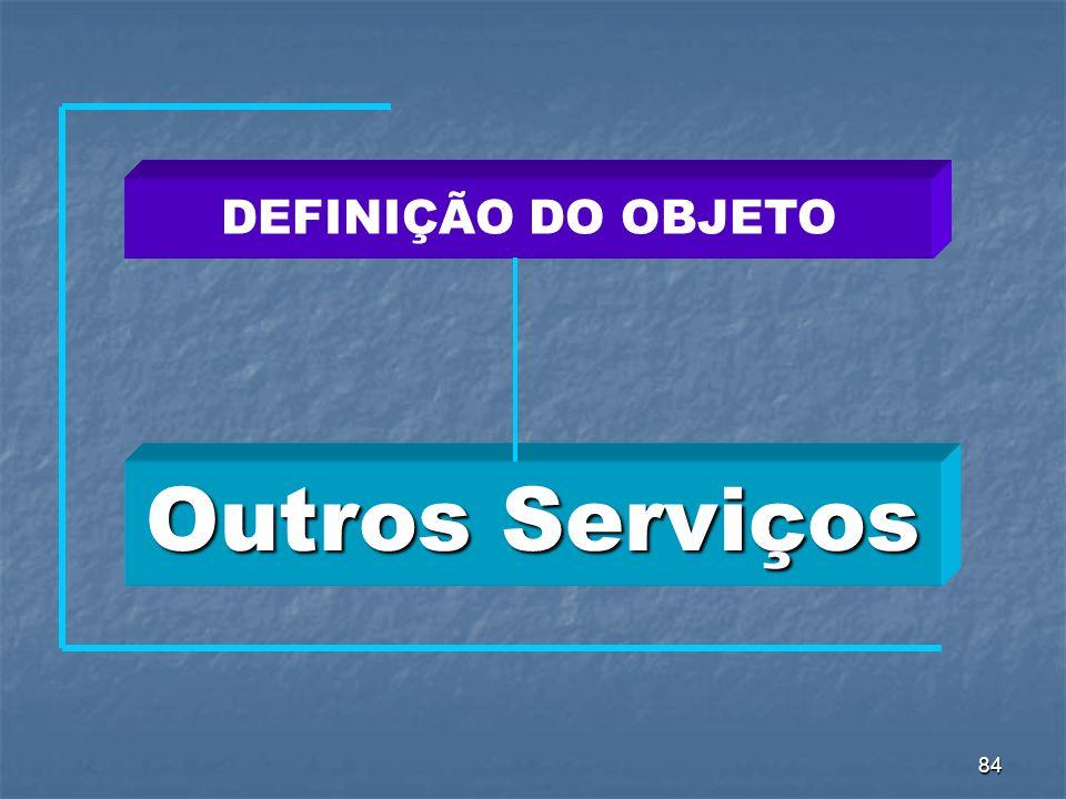 DEFINIÇÃO DO OBJETO Outros Serviços