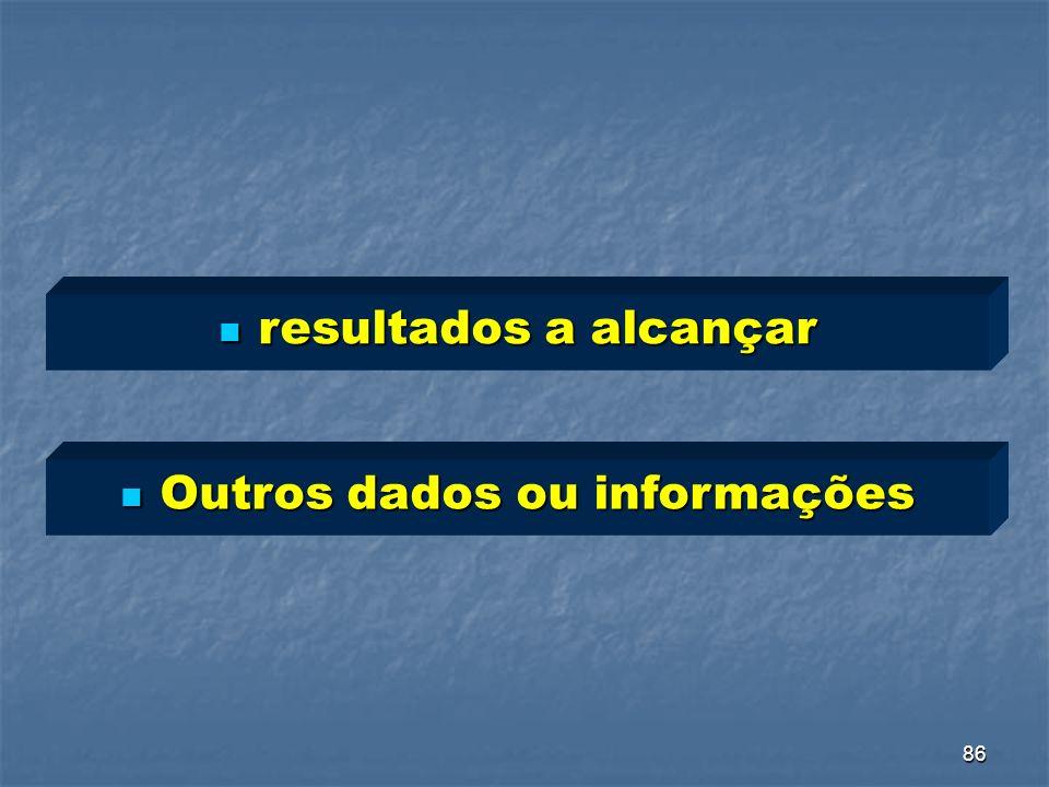 Outros dados ou informações