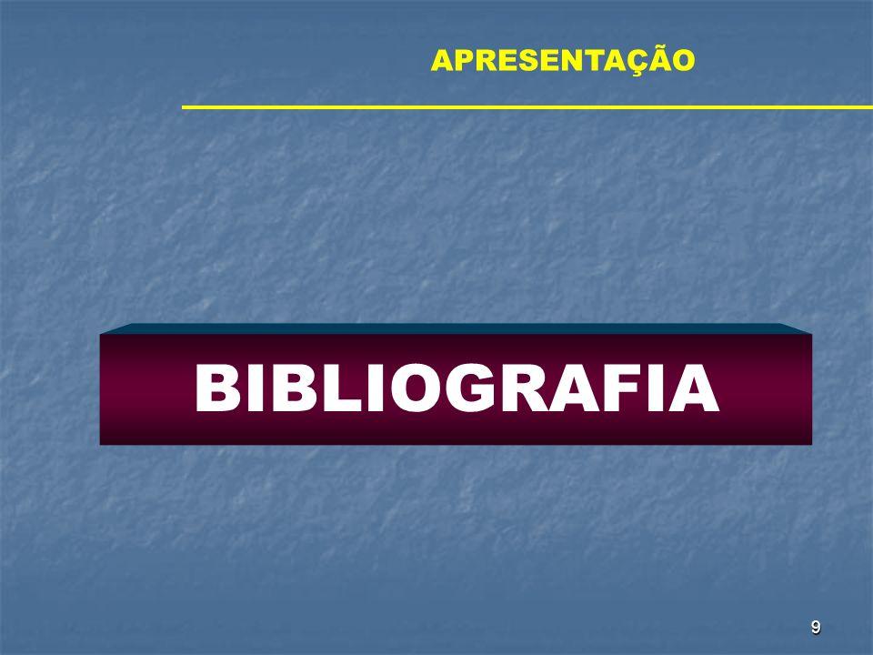 APRESENTAÇÃO BIBLIOGRAFIA