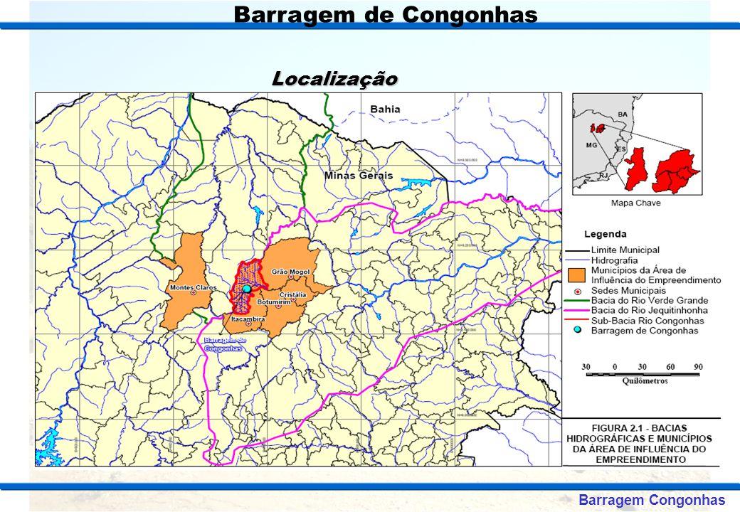 Barragem de Congonhas Localização Mapa de Localização