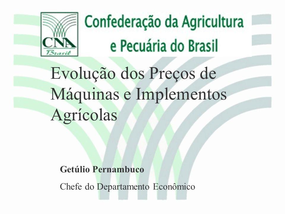 Evolução dos Preços de Máquinas e Implementos Agrícolas