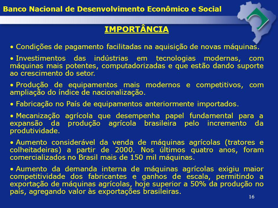 IMPORTÂNCIA Banco Nacional de Desenvolvimento Econômico e Social