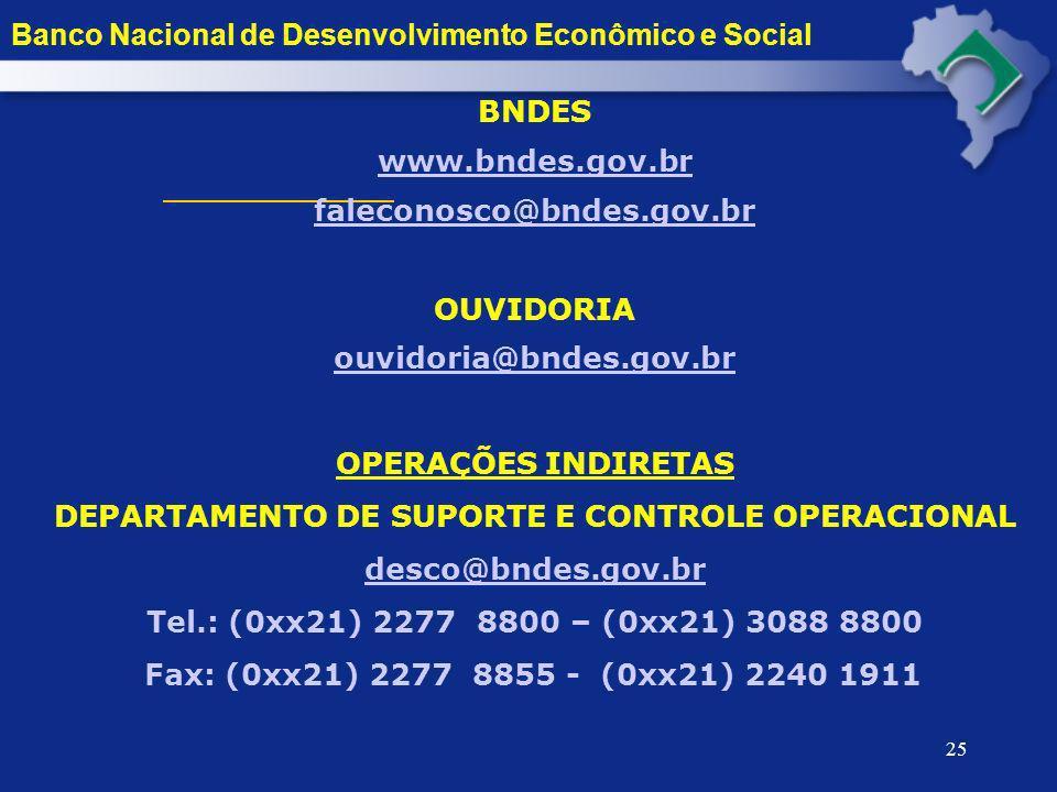 DEPARTAMENTO DE SUPORTE E CONTROLE OPERACIONAL