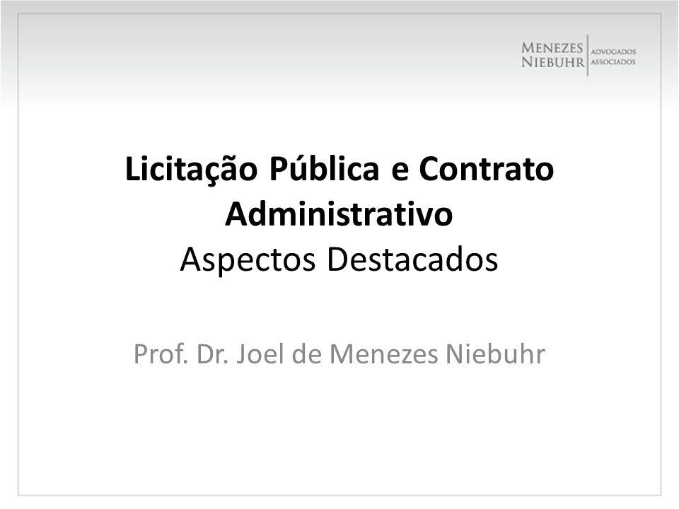 Licitação Pública e Contrato Administrativo Aspectos Destacados