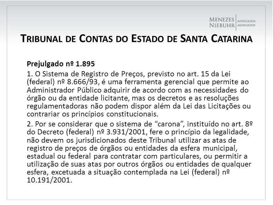 Tribunal de Contas do Estado de Santa Catarina