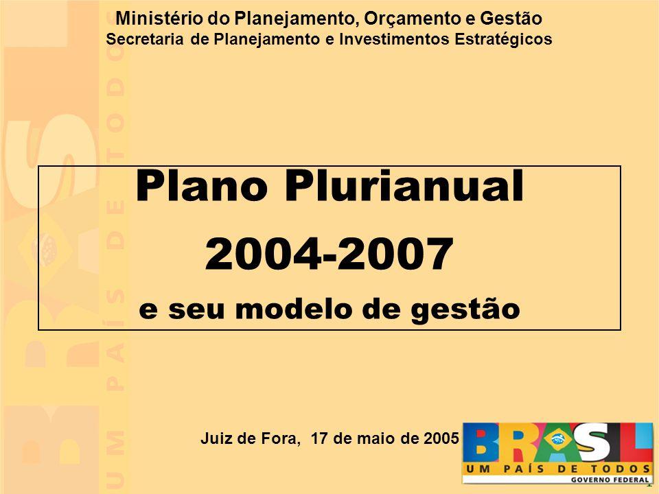 Plano Plurianual 2004-2007 e seu modelo de gestão