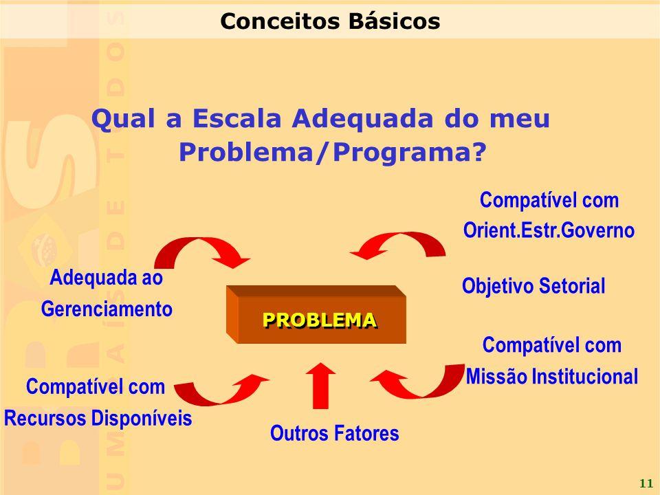 Qual a Escala Adequada do meu Problema/Programa