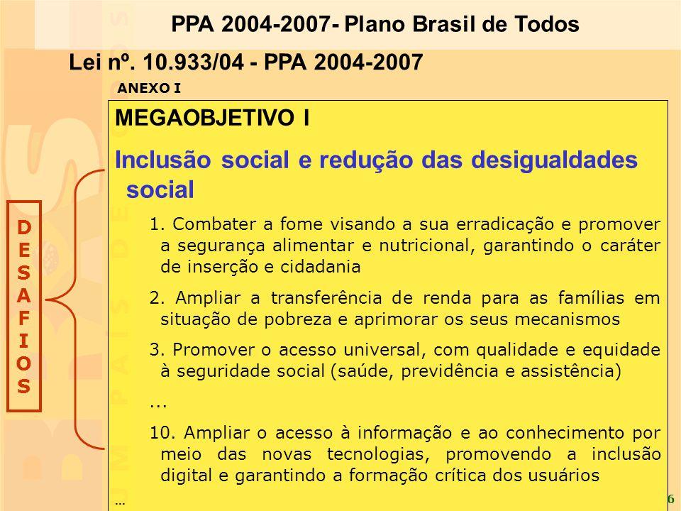 PPA 2004-2007- Plano Brasil de Todos