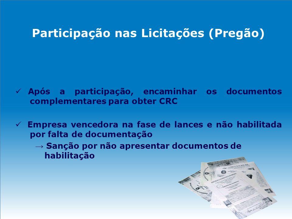 Participação nas Licitações (Pregão)