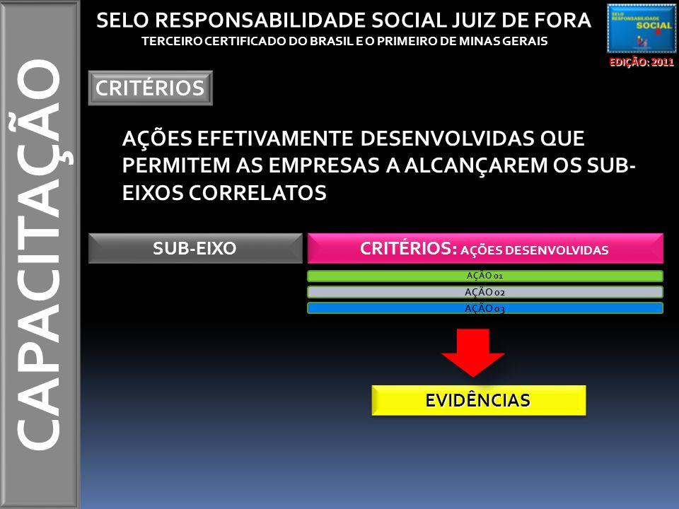 CAPACITAÇÃO SELO RESPONSABILIDADE SOCIAL JUIZ DE FORA CRITÉRIOS