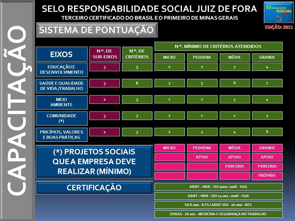 CAPACITAÇÃO SELO RESPONSABILIDADE SOCIAL JUIZ DE FORA