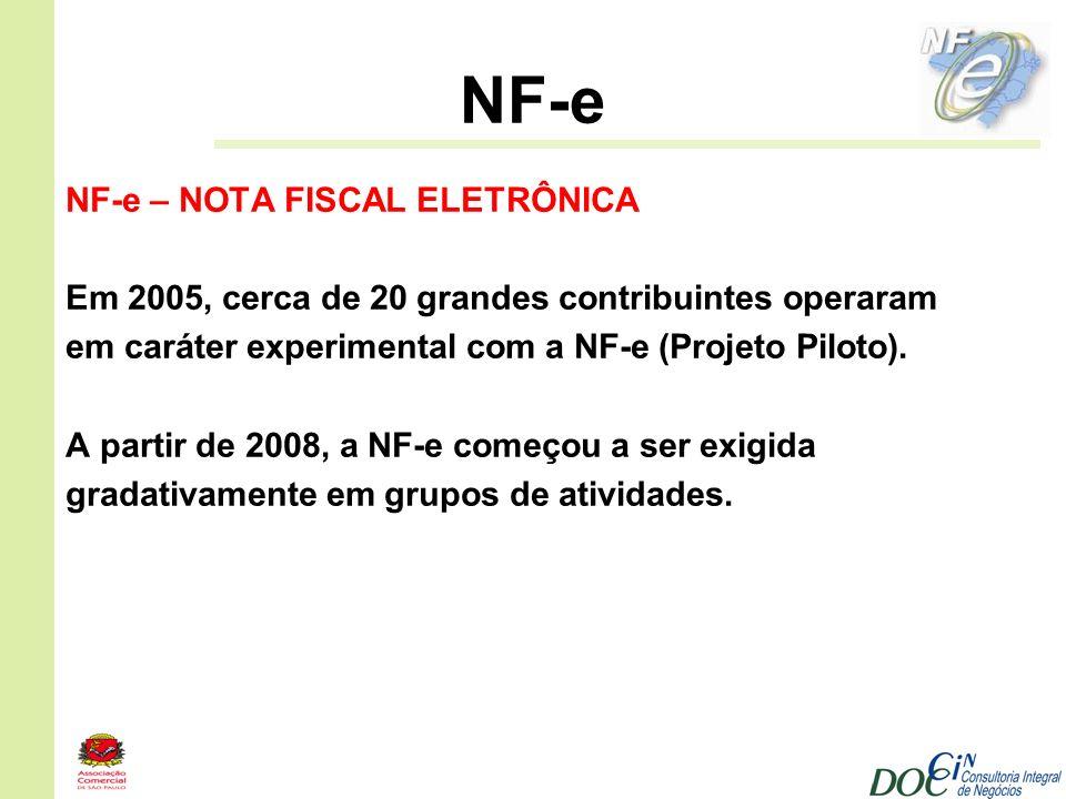 NF-e NF-e – NOTA FISCAL ELETRÔNICA