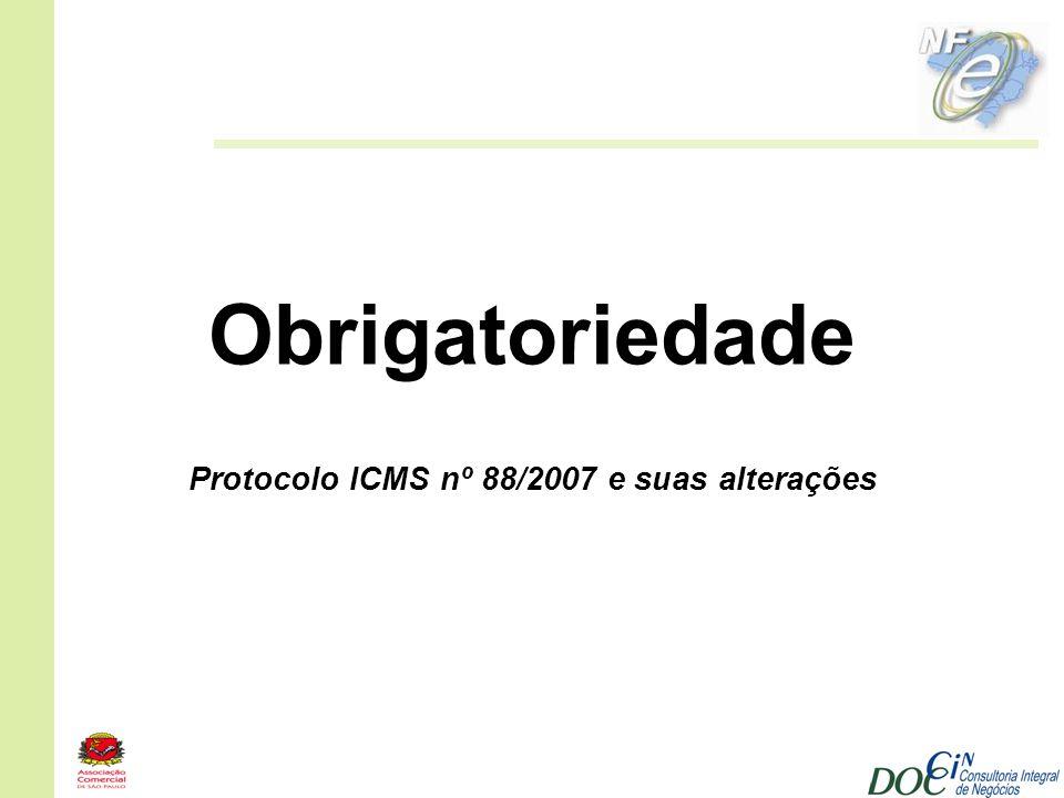Protocolo ICMS nº 88/2007 e suas alterações