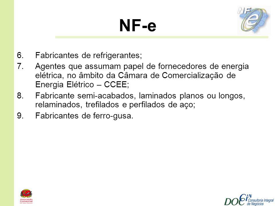 NF-e Fabricantes de refrigerantes;