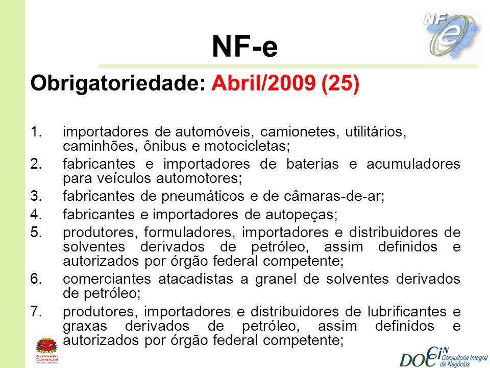 NF-e Obrigatoriedade: Abril/2009 (25)