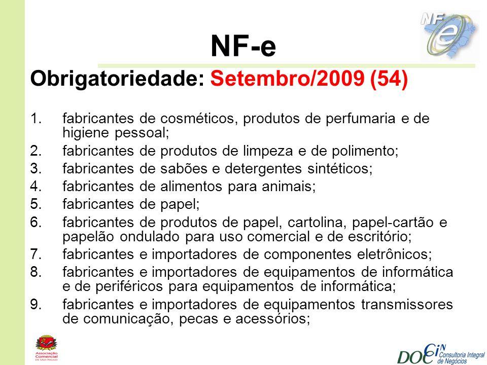 NF-e Obrigatoriedade: Setembro/2009 (54)