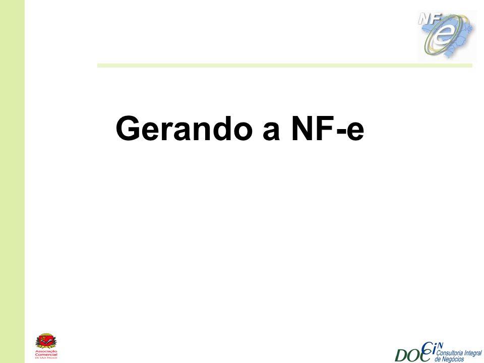 Gerando a NF-e