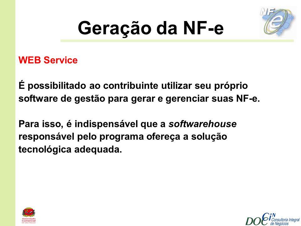 Geração da NF-e WEB Service
