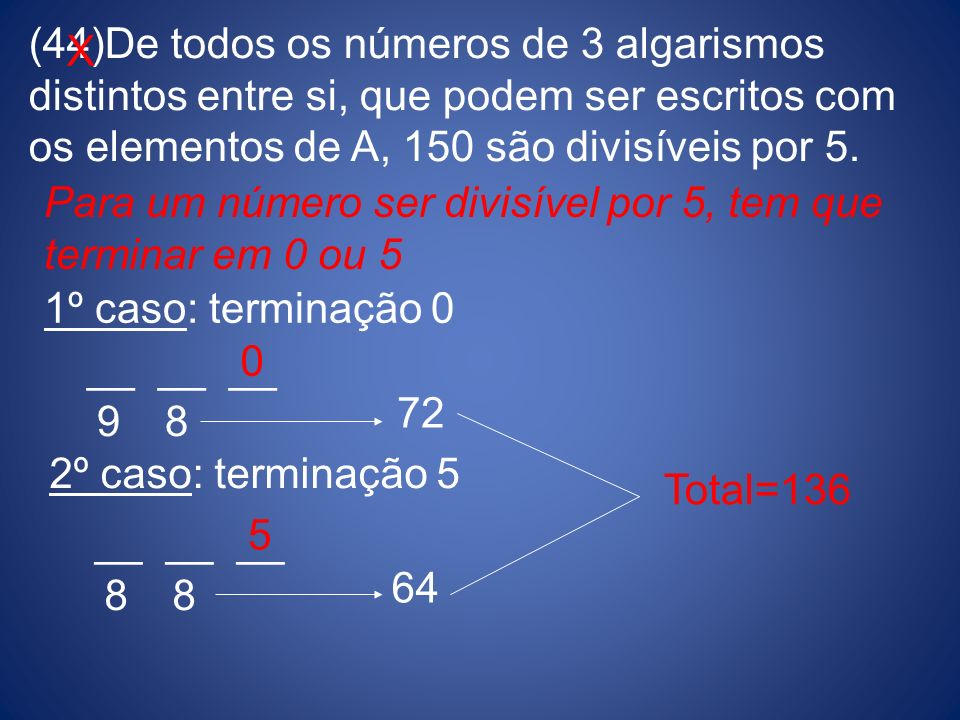 De todos os números de 3 algarismos