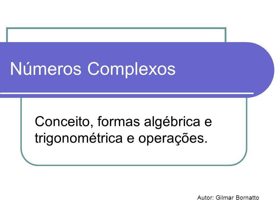 Conceito, formas algébrica e trigonométrica e operações.