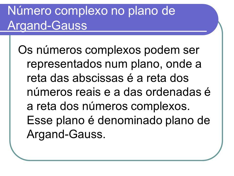 Número complexo no plano de Argand-Gauss