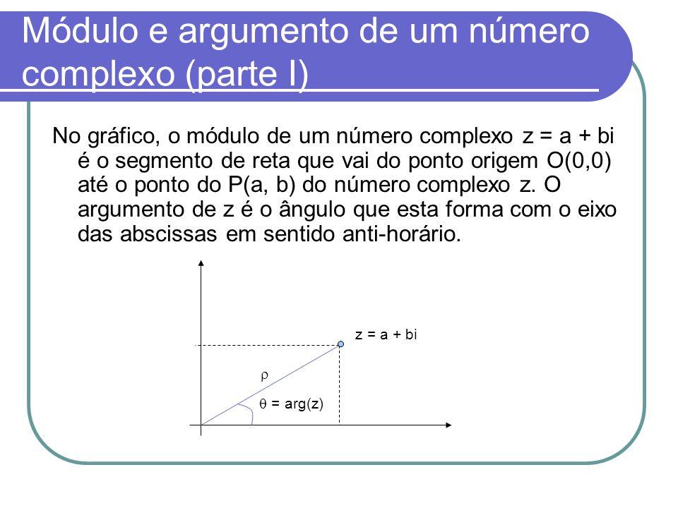 Módulo e argumento de um número complexo (parte I)