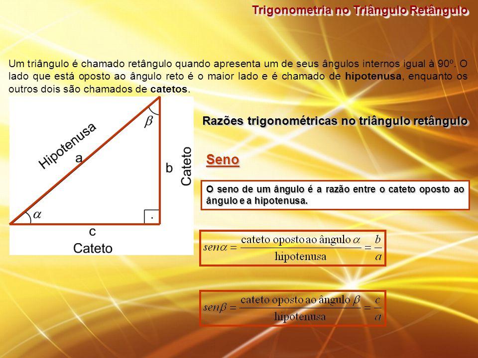 Seno Trigonometria no Triângulo Retângulo