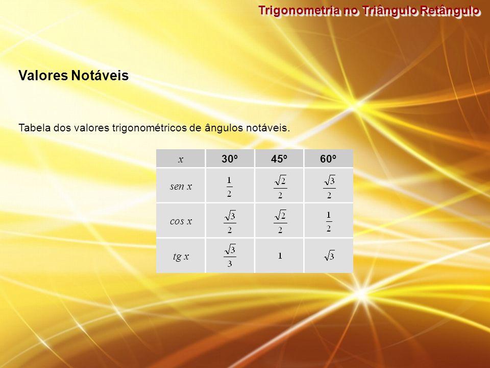 Valores Notáveis Trigonometria no Triângulo Retângulo
