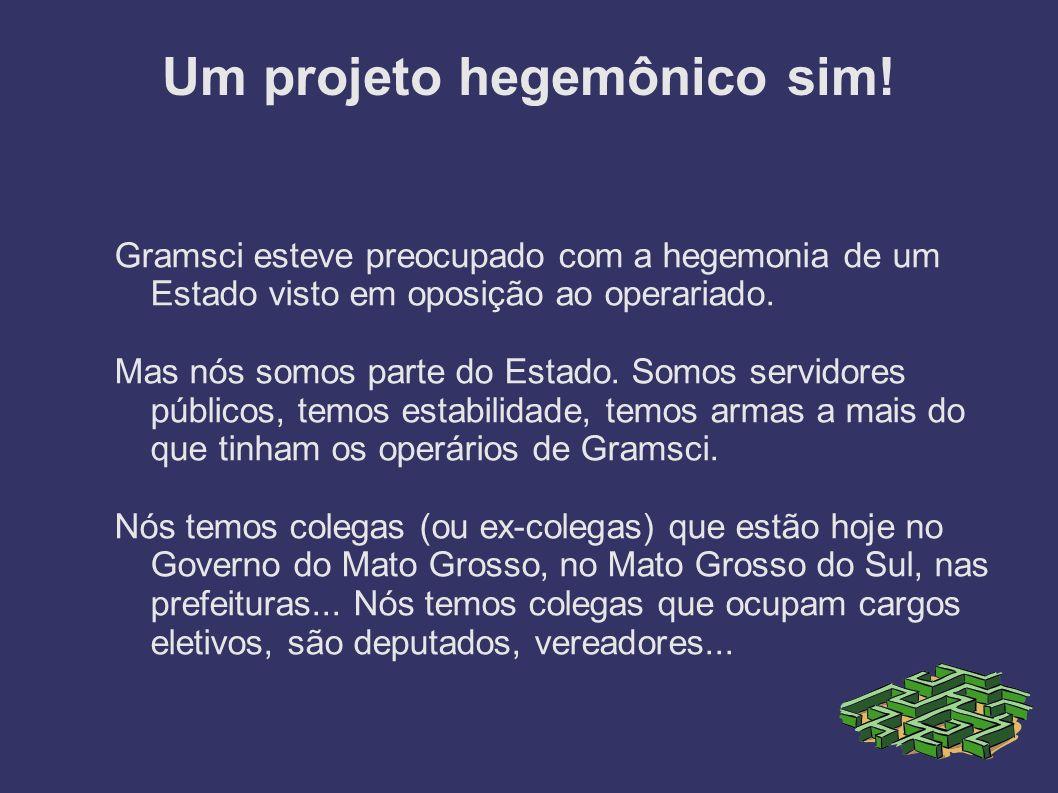 Um projeto hegemônico sim!